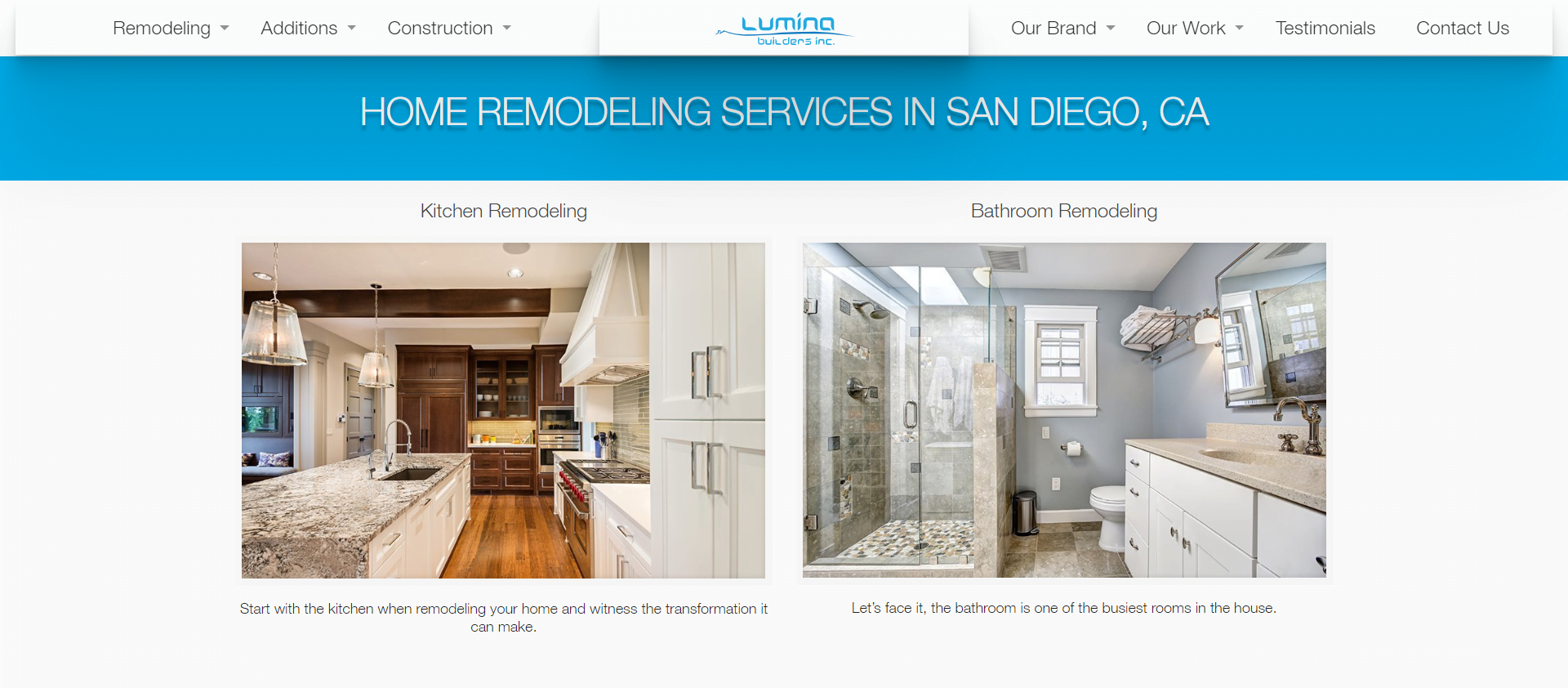 Lumina Builders 1 Home Renovations and Remodels San Diego luminabuildersinc.com