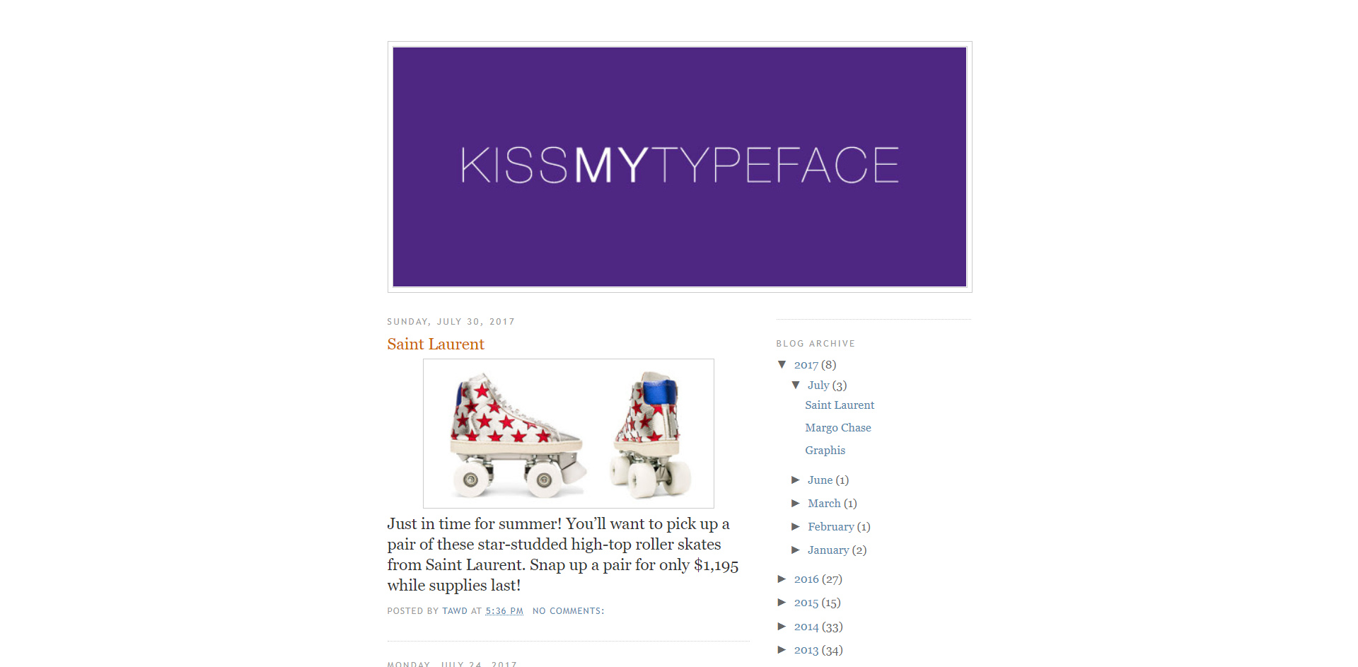 BEFORE KISSMYTYPEFACE Blogger